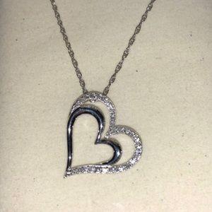 Kay diamond heart necklace